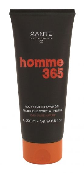 Sante - Био душ гел за коса и тяло Homme 365, 200 мл.